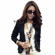 Casual Slim Suit Blazer Jacket Coat Outwear Korean Womens Fashion One Button