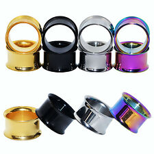 Lot8pcs Stainless Steel Ear Tunnel Chic Plug Ear Expanders Gauges Tube Piercing