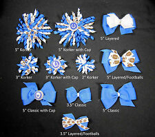 Indianapolis Colts Themed Hair Bows Korkers Classic Bottle Caps U-Pick