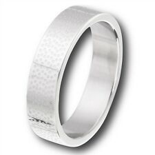 Stainless Steel High Polish Etched Finish Fashion Ring Size 7-12