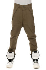 RICK OWENS DRKSHDW New Men Army Green Pants Trouser CARGO Made Italy