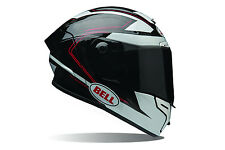 Bell Adult Black/White/Red Pro Star Ratchet Motorcycle Helmet Race Track
