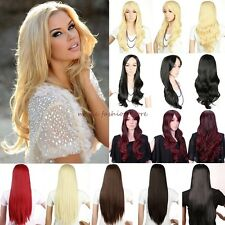 Fashion Ladies Wig Long Curly Straight Full Hair Cosplay Party Daily Fancy Dress