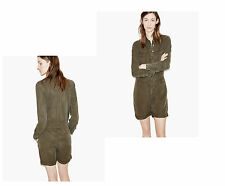 NEW THE KOOPLES KHAKI FLOWING JUMPSUIT SHORTS MILITARY XS S- 100% AUTHENTIC