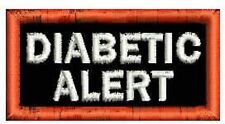 "Diabetic Alert Service Dog Patch Rectangle Small Dog Black White Patch 2"" x 1"""