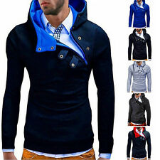 Brand Men Winter Slim Hoodie Warm Hooded Sweatshirt Coat Jacket Outwear Sweater