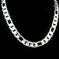 NEW XMAS EP Silver plated amazing men's  Chain Necklace Chain width 4mm 7mm 12mm