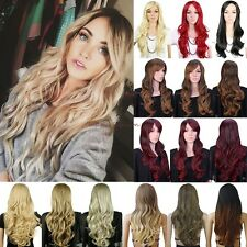 Women Hot Sale Long Curly Straight Full Hair Wig Cosplay Party Daily Fancy Dress