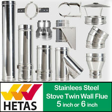 Convesa Twin Wall Flue Pipe Insulated Flue System For Stoves Woodburner boiler