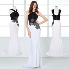 Womens Sexy Backless Floor Length Ball Gown Cocktail Evening Party Dress 8 Size
