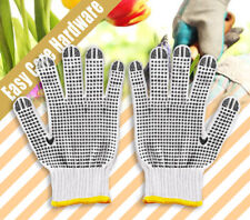 """PVC Black Dotted Glove Gloves One Size High Quality Brand New 10"""""""