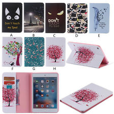 Pu Leather Card Wallet  Case Patterned Cover Stand For iPad 2 3 4 mini 4 Air Pro