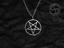 Inverted Pentagram Pendant Satanic Symbol Stainless Steel Pentacle Necklace