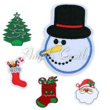 Santa Christmas Tree Embroidered Applique Iron On Sewing Patch Clothes Accessory