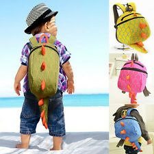 Baby Toddler Cartoon Dinosaur Safety Harness Strap Bag Backpack with Reins New