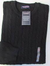 nwt-roundtree-yorke-cable-sweater-crewneck-black-regular-size-l