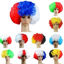 world cup Football Fans Games Supplies Afro Wig Fancy Dress Costume Cosplay QW