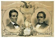 Abraham Lincoln Civil War Presidential Campaign Poster Free Shipping