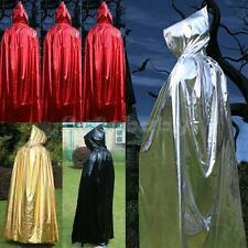 Adult Unisex Hooded Hoodie Cape Witch Wizard Vampire Halloween Costume Cloak