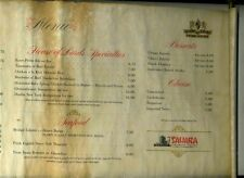 House of Lords Steak House Menu Parchment Scroll Sahara Hotel Las Vegas Nevada