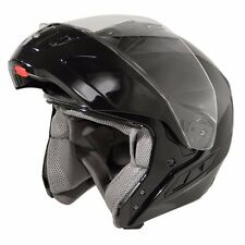 Hawk FX Gloss Black Modular Dual Visor Full Face Motorcycle Helmet