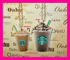 Starbucks Frappuccino Coffee Ice Blended Chocolate Caramel Silver Necklaces USA