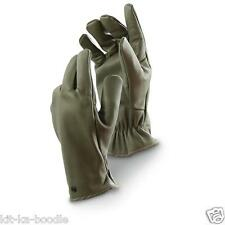 NEW French Army Military NATO Olive Leather Warm Winter Combat Gloves J1 (RA9)