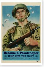 WWII US Army Airborne Paratrooper Steele Savage Recruiting Poster Free Shipping