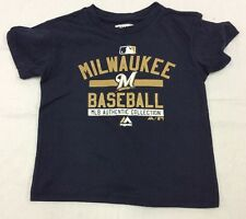 Majestic Kids Authentic On-Field Team Property T-Shirt Milwaukee Brewers