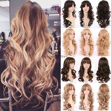 Long Wigs Curly Wavy Cosplay Party Daily Fancy Dress Full Hair Head Extra Thick