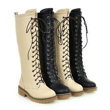 AU All Size New Med Heel Women Shoes Zip Fashion Calf Riding Lady's Boots F502
