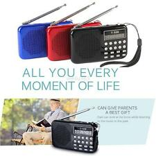 Portable LCD Digital FM Radio Speaker USB Micro TF Card Mp3 Music Player