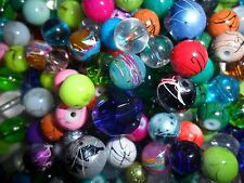 bag of quality 4-14mm mixed glass round beads