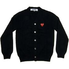 "NEW Cardigans CDG Comme des Garcons ""PLAY"" Sweater coat Black Red Heart Overcoat"