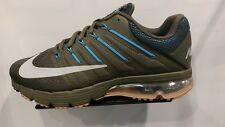 Men's Nike Air Max Excellerate 4 Running Shoes -Cargo Khaki/Wolf Grey/Blue Glow/