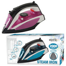 2000W ELECTRIC COMPACT STEAM SPRAY IRON STAINLESS STEEL NON-STICK SOLEPLATE WATT