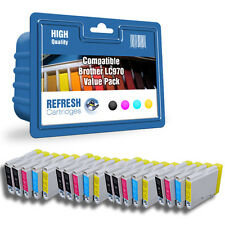 COMPATIBLE BROTHER LC970 INK CARTRIDGES - 20 CARTRIDGE SUPER SAVER VALUE PACK