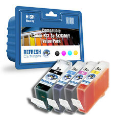 COMPATIBLE CANON BCI-3eBK / C / M / Y - 4 INK CARTRIDGE EVERYDAY VALUE PACK