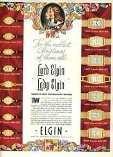 Lady Elgin & Lord Elgin Watches Magazine Ad 1930's