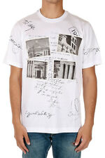 DOLCE&GABBANA New Men White Jersey Cotton Printed Tee T-shirt Made italy