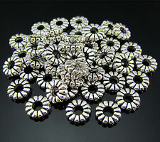 FREE LOT 50PCS Crafts Tibetan silver Circle Findings Pendant Ring Connector 8MM