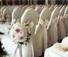 10 Polyester Banquet Chair Covers Wedding Reception Party Decorations 3 Colors!