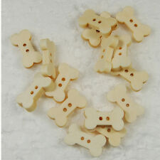 50/100pcs WOOD BONE Flatback Wooden Buttons Sewing Craft Scrapbooking New sx