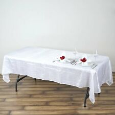 60x102 in. Taffeta Crinkle Round Seamless Tablecloth~Wedding~NEW