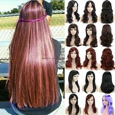 Amazing Lady Women Long Curly Straight Full Head Wigs Cosplay Party Fancy Dress