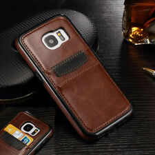 Luxury Slim Leather Wallet Card Slot Back Case Cover Samsung Galaxy S7 S8+ Plus