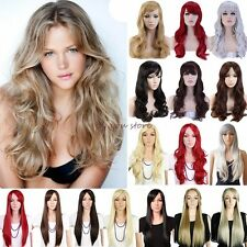 Hot Sell Women Wig Long Curly Straight Full Head Cosplay Party Daily Fancy Dress