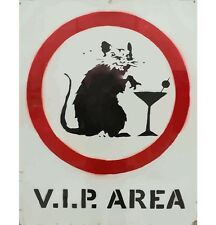 Stretched VIP Area Rat Canvas Print by Banksy Graffiti Urban Street Art