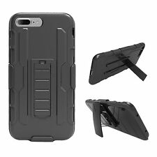 For iPhone 7/7 Plus Shockproof Heavy Armor Stand Cover Case +Belt Clip Holster