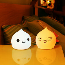 Cute Silicone LED Night Light 7 Color Changing Desk Sensitive Lamp Battery Power